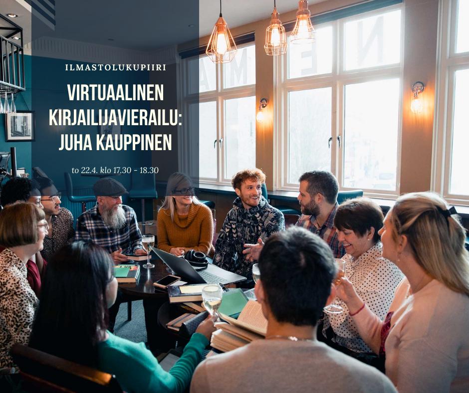 Kirjailijavieraana Juha Kauppinen (verkkotapahtuma)