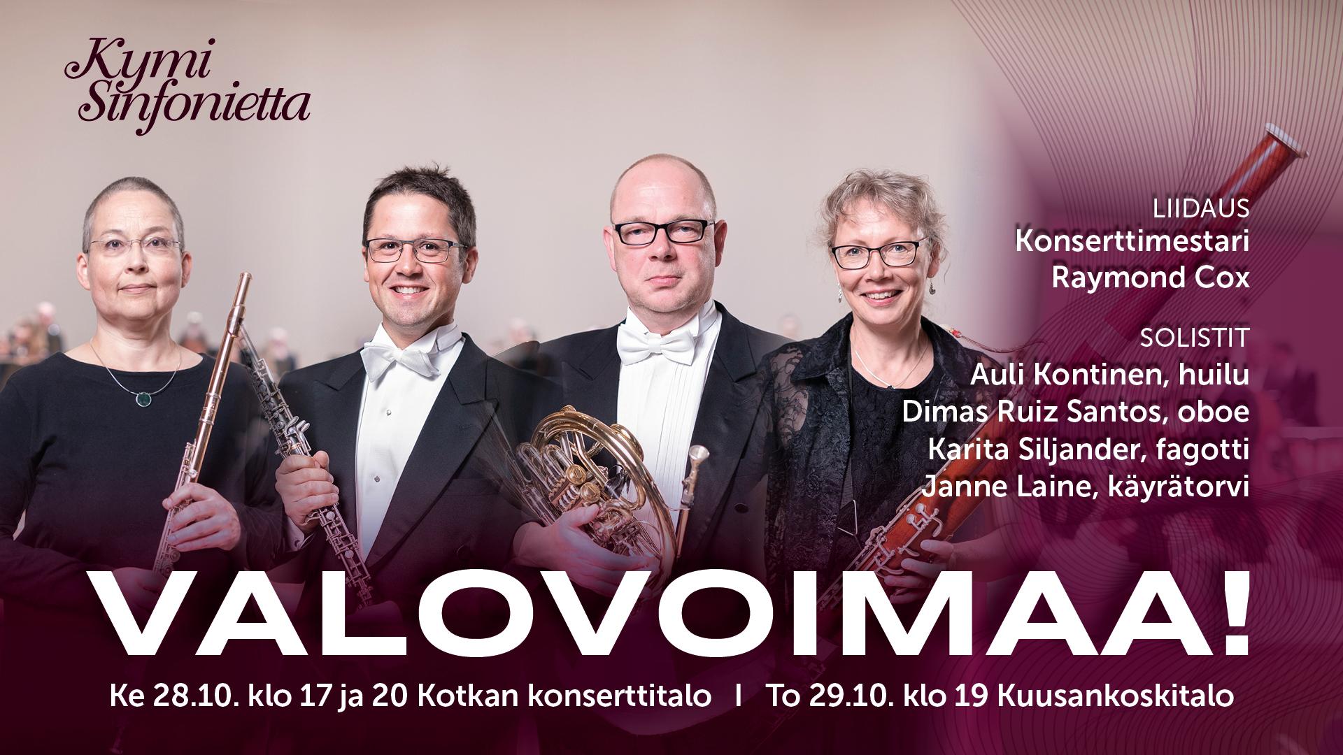 Kymi Sinfonietta: Valovoimaa!